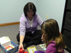 Speech Therapist with girl